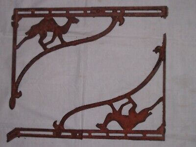 Antique Lg.Pat. Date 1904 Expandable Cast Iron CAMEL Shelf / Sink Wall Brackets