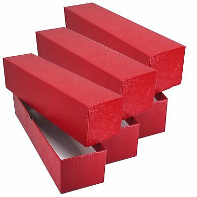 "3 RED STORAGE BOX ( 2""x 2""x9"" ) FOR 2x2 FLIP SNAP COIN HOLDERS"