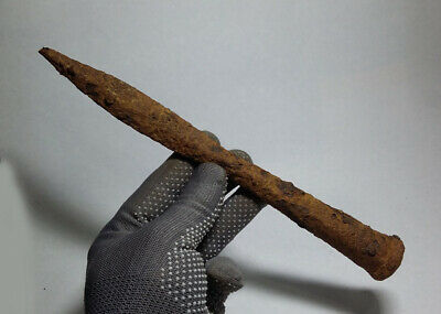 ANCIENT Authentic Viking period Iron Combat SPEAR JAVELIN 9-10 cen. AD#85