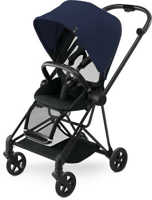 Cybex Mios Lightweight Compact Single Baby Stroller Black Frame Midnight Blue