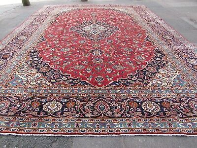 Old Hand Made Traditional Persian Rugs Oriental Wool Red Large Carpet 412x300cm