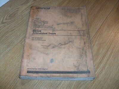 Cat 1995 Genuine Caterpillar D250E Articulated Dumper Truck Parts Manual/Book