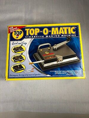 Top-O-Matic Cigarette Maker Rolling Making Tobacco Injector Machine King 100's
