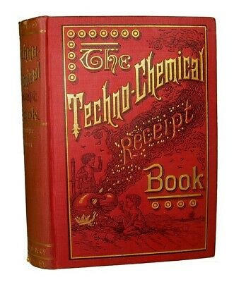 Antique CHEMICAL COOKBOOK Explosives FIREWORKS Gunpowder LIQUOR Tobacco Snuff