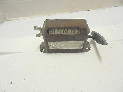 vintage industrial 5 digit counter steampunk metal decor
