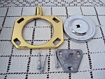 "Toothbrush Holder Brass 4"" Across Cup Holder Wall Mount Hardware Included Used"