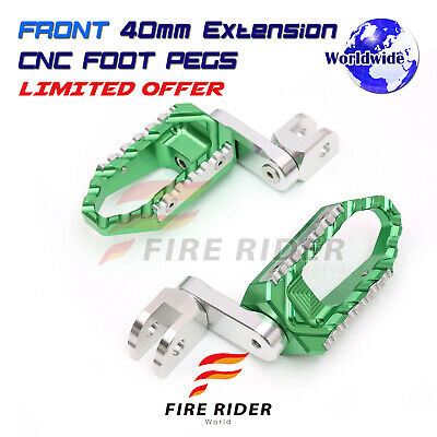 Front Rider 40mm Lowering Wide Footpegs For EX650JHF Ninja 650R Z900 Z650 Z900RS