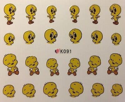 Nail Art 3D Decal Stickers Tweety Bird K091