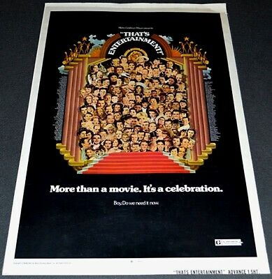 That's Entertainment 1974 Original Rolled Advance Movie Poster! All-Star Mgm Doc