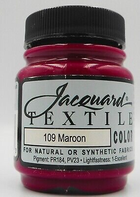 Jacquard  Maroon Natural Or Synthetic Fabric Paint