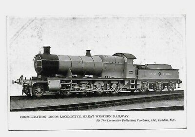 GWR, Great Western Railway Postcard. Consolidation Goods Locomotive (2803) LPC.