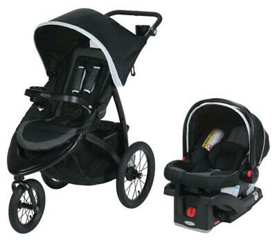 Graco Baby RoadMaster Jogger Travel System Stroller w/ Infant Car Seat Drift NEW