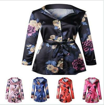 Womens Short Dresses Top Lace Up Sexy Shirt Printed Floral V-neck Fashion Casual
