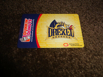 Dunkin Donuts gift card no value cover: Drexel Dragons  NEW