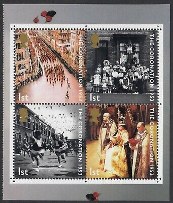 GB 2003  CORONATION  BLOCK  FROM  BOOKLET DX31  SG 2368b  MNH