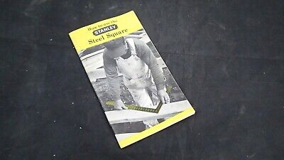 How to Use the Stanley Steel Square Vintage Booklet Manual 1967
