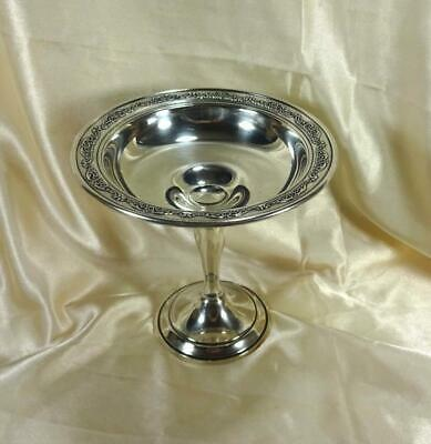 "Gorham Sterling Silver Footed Compote  Pattern  ""Buttercup""  # 973"