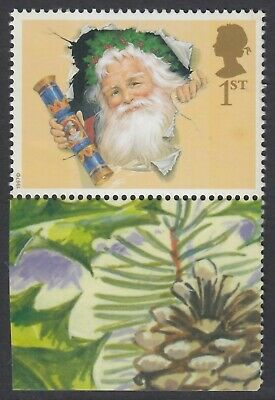 GB 2002  FATHER CHRISTMAS 1st CLASS   PERF 14.5 x 14  LITHO QUESTA  ex LS10  MNH