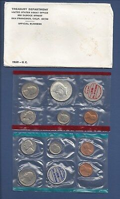1968 US Coin Mint Set Flatpack 40/% Silver Kennedy Half Dollar Free Shipping 1700