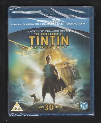 The Adventures of Tintin The Secret of the Unicorn  3D /Blu-ray/DVD  All Region