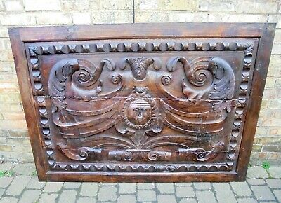 Late 17th Early 18th Century Carved Chestnut French Panel - Very Large