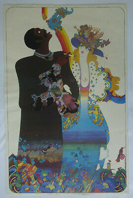 Plakat Poster - Nicole Claveloux 1970 - Hippie Psychedelic Flower Power  affiche