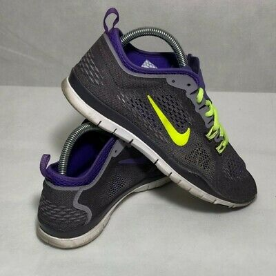 09f0f01618bb8 NIKE Free TR FIT4 Training Running Shoes Gray Violet Lime Women s Size 8