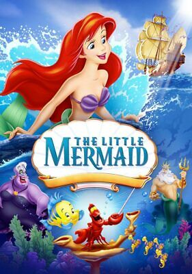 BN The Little Mermaid Disney You Choose Bluray & Case or DVD Classic 1989
