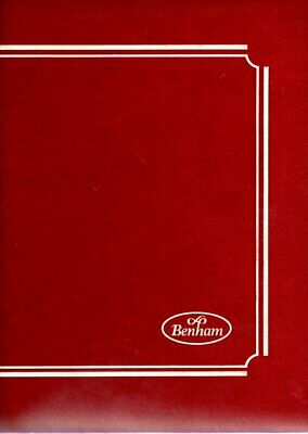 RED BENHAM FDC ALBUM with 17 2 pocket DOUBLE SIDED INSERTS holds 68 FDCS/P.PACKS