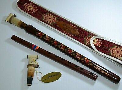 Armenian duduk with national ornament + 2 reeds + flute gift