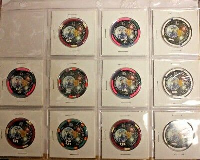 Lot of 11 Millennium Casino Chips from 4 Queens Fremont Street Hotel & Casino