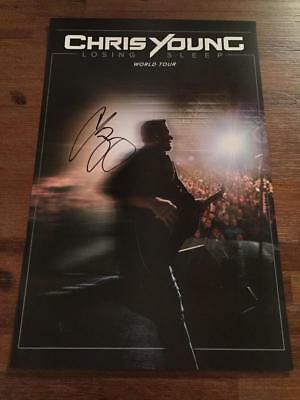 "2018 Chris Young Autographed Poster Losing Sleep Tour VIP 17"" x 11"""