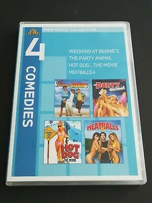 Weekend at Bernies/The Party Animal/Hot Dog: The Movie/Meatballs 4 (DVD, 2010)