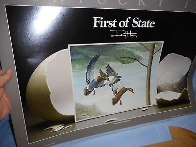 VTG NOS Print By Ray Harm 1985 State First Waterfowl Stamp Signed