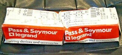 Lot Of 2 Pass & Seymour Legrand Turnlok Receptacle 4710 15 Amp New W/ Box