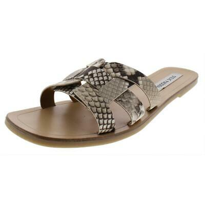 06ccf654ce2 STEVE MADDEN WOMENS Sicily Taupe Flat Sandals Shoes 10 Medium (B