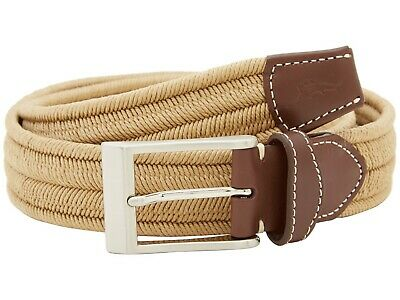 Tommy Bahama ~ Tidal Wave Men/'s Leather Tipped Braided Belt $98 NWT