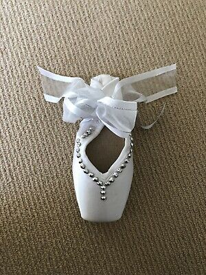 Energetiks White Decorated Pointe Shoe