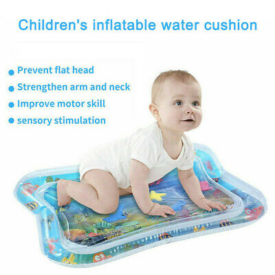 Inflatable Fun Water Play Mat for Kids Baby Infants Best Tummy Time Play Center