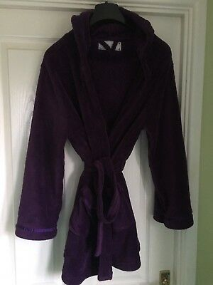 Ladies New Look Dressing Gown Size S Purple