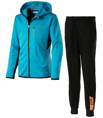 energetics Kinder Trainingsanzug Trentony + Thomsy blau schwarz orange