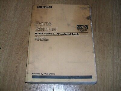 Cat 1999 Genuine Caterpillar D250E Ii Articulated Dumper Truck Parts Manual/Book