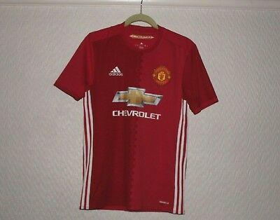 Manchester United Mens Small Official Home Shirt 2016 Man United Vgc Football