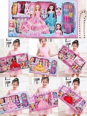Barbie Doll with Dress Clothes Set Toy for Kid Girl Shoes Baby Doll Beauty Gift
