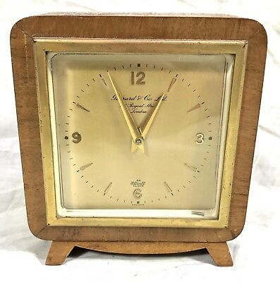 ART DECO Petite Elliot Art Deco Mantle Clock Garrard & Co Ltd London