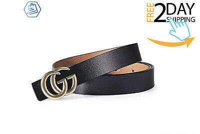 0788c312d Women G-Style Gold Buckle Leather Slim Belts Gucci Logo Pattern For Jeans -3.2
