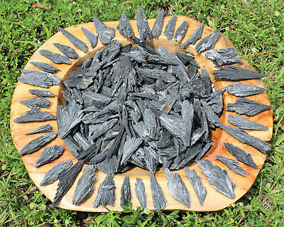 1/4 lb Black Kyanite Blades Fans: Premium Quality Wholesale Bulk Lot 4 oz