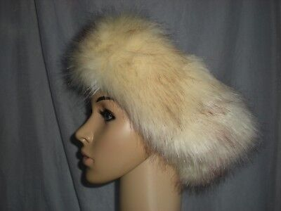 Gorgeous Cream Faux Fur Head Band / Ear Warmer / Russian Hat Excellent Condition