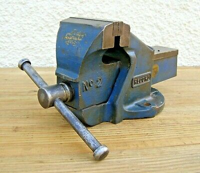 "Record No.2 Enginneers Bench Vice 3"" 1/2 (90mm) Jaws -Refurbished ~ Free UK Post"