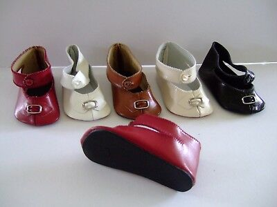 G.BRAVOT Doll shoes Leather shoes Size 5 for old or modern doll 4.5 cm